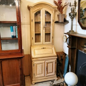 Glazed Pine Desk Cupboards and Larders