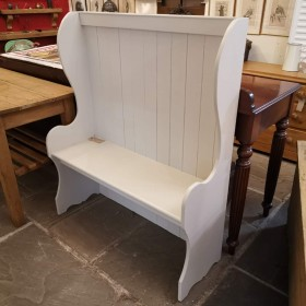 Painted Pine Settle Stools, Benches & Pews