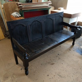 Antique Settle Stools, Benches & Pews