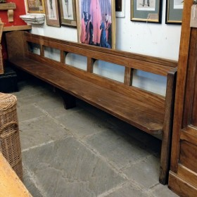 10ft Solid Teak Pew Stools, Benches & Pews