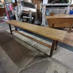 6ft French Oak Bench Stools, Benches & Pews