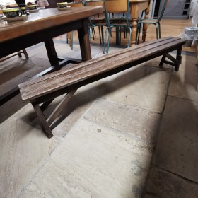 Rustic French Wooden Bench Stools, Benches & Pews