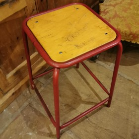 Red School Stool Stools, Benches & Pews