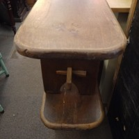 Pair Of Chunky Oak Benches Stools, Benches & Pews