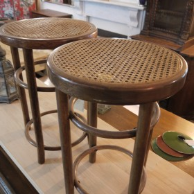 Pair of 1930s Rattan Stools Stools, Benches & Pews