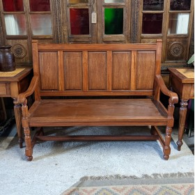 Panelled Settle Stools, Benches & Pews