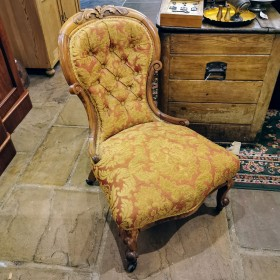 Walnut Nursing Chair Upholstered Chairs