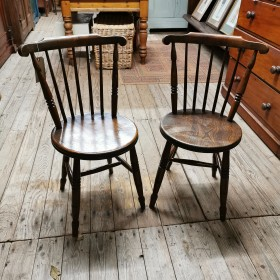 Pair of Antique Penny Chairs Wooden Chairs