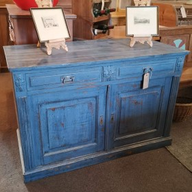 Blue Painted Sideboard Sideboards and Dressers
