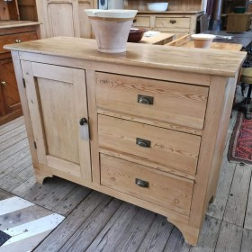 Waxed Pine Sideboard Sideboards and Dressers