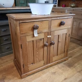 Small Pitch Pine Sideboard Sideboards and Dressers