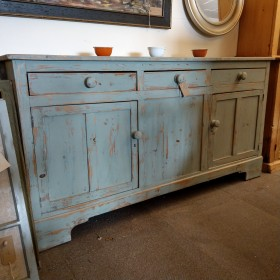 6 Foot Rustic Painted Sideboard Sideboards and Dressers