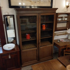 Oak Glazed Bookcase Sideboards and Dressers