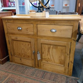 Pine Two-Drawer Sideboard Sideboards and Dressers