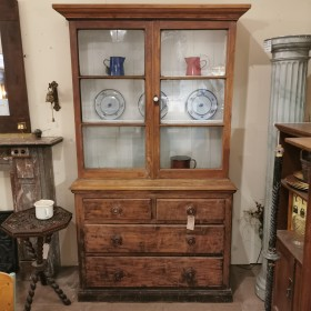 Victorian Pine Glazed Dresser Sideboards and Dressers