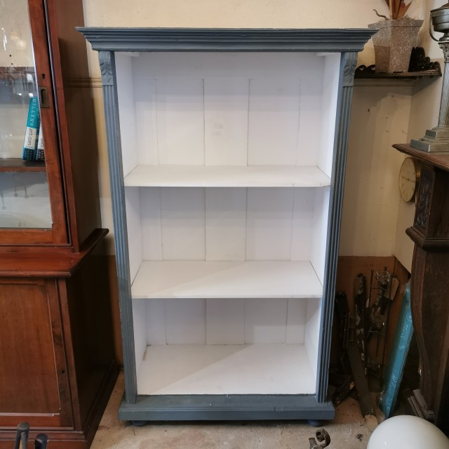 Grey Painted 3 Shelf Bookcase Sideboards and Dressers