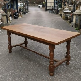 "6ft 6"" French Oak Table Tables and Islands"