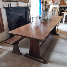 8ft French Oak Refectory Table Tables and Islands