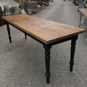 Black Painted Table Tables and Islands
