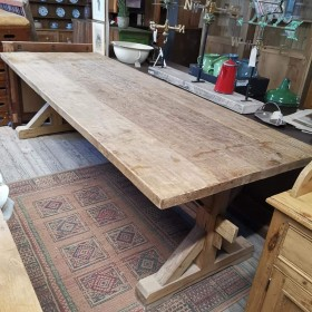 9ft Chunky Pine Table Tables and Islands