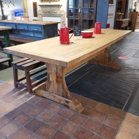Elm Refectory Table Tables and Islands