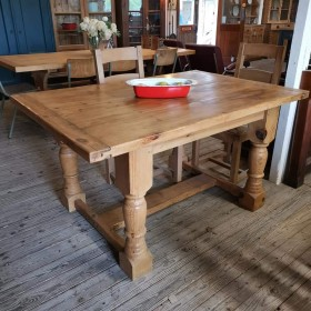 Chunky Pine Dining Table Tables and Islands