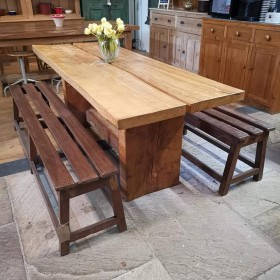 Chunky Oak Table Tables and Islands