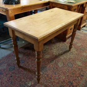 Waxed Pine Side Table Tables