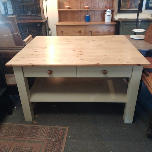Reclaimed 4ft x 5ft Kitchen Island Tables