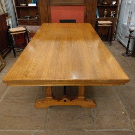 Large Polished Dining Table Tables and Islands