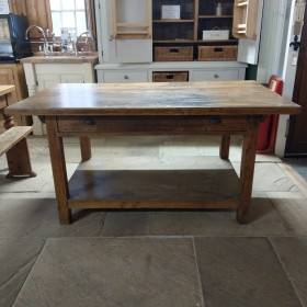 Restored Rustic Kitchen Island Tables and Islands
