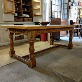 "6ft 6"" Plank Top Pine Table Tables and Islands"