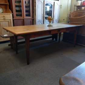 "7ft 2"" French Oak Farmhouse Table Tables and Islands"