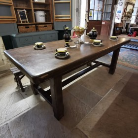 "6ft 6"" French Oak Dining Table Tables and Islands"
