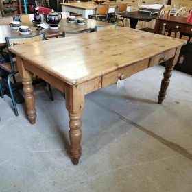 Pine Two Drawer Dining Table Tables and Islands