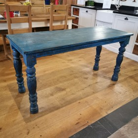 Blue Painted Table Tables and Islands