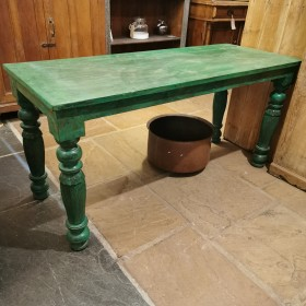 Green Painted Table Tables and Islands