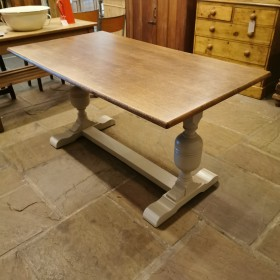 Painted Refectory Table Tables and Islands