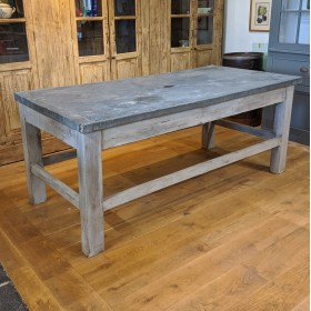 Zinc Top Table Tables and Islands