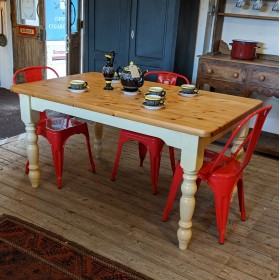 Pine Farmhouse Table Tables and Islands