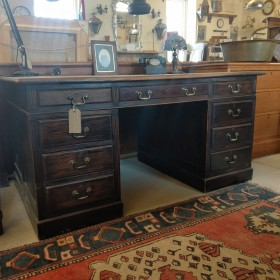 Leather Inlaid Kneehole Desk Trunks, Chests and all the rest