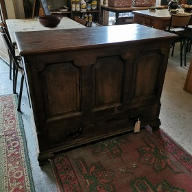 Panelled Dark Wood Chest Trunks, Chests and all the rest