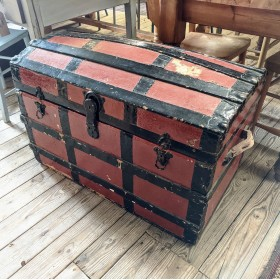 Red Vintage Travel Trunk Trunks, Chests and all the rest
