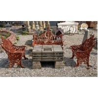 Cast Iron Bench & 2 Seats Seating