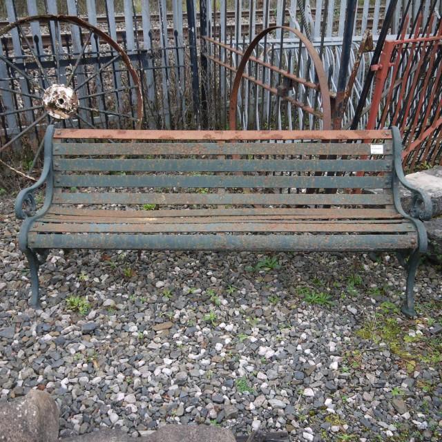 Large Metal Garden Bench Seating