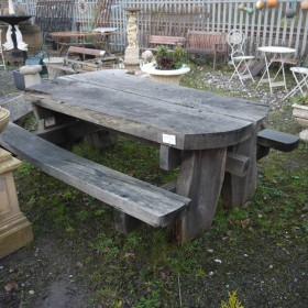 Oak Garden Table Seating
