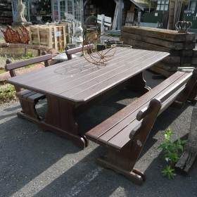 Large Garden Table and Bench Set Seating