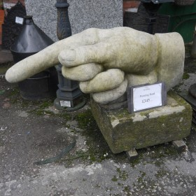 Large Pointing Hand Statuary