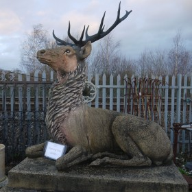 Stag on Plinth Statuary