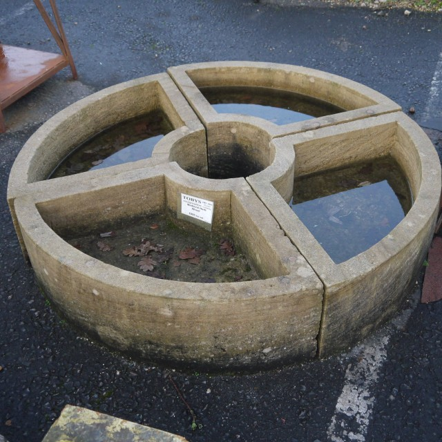 Stone Herb wheel Troughs and Planters